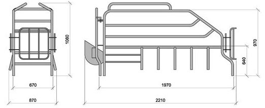 farrowing frame diagram